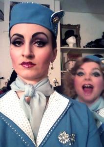 Kitty und ich - The Fabulous Fräuleins - backstage vor der Show